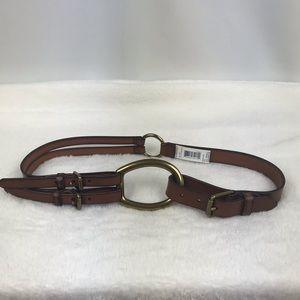 Ralph Lauren | Tri-Strap Leather Belt